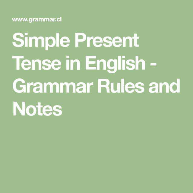 Simple Present Tense in English - Grammar Rules and Notes