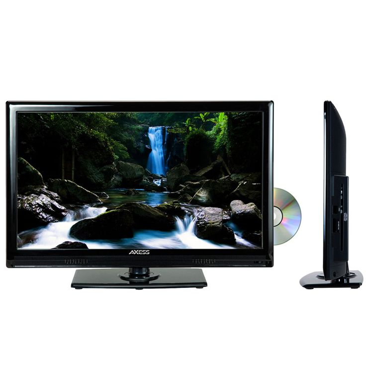 """Axcess 24"""" LED TV with Built in DVD Player"""