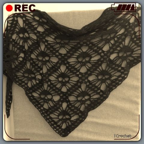 iCrochetstuff: Skull skarf / doodshoofd sjaal
