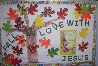 Church Bulletin Board Ideas | Angels Of Heart: FALL in love with Jesus bulletin board