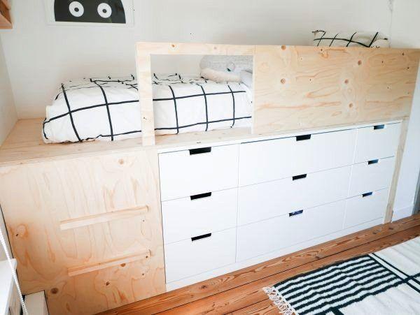 Schlafzimmer Halbhohes Makeover Nordli Bett Ikea Hack Make Und Diy Mix Itschlafzimmer Makeover Und Diy Halbhohes Bett In 2020 Ikea Kids Bed Ikea Hack Kids