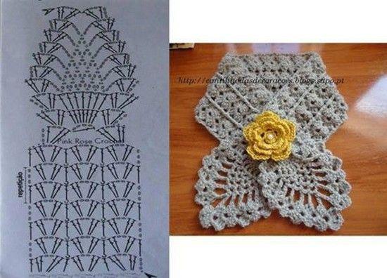 crochet bufandas-tour de cou (9) Más