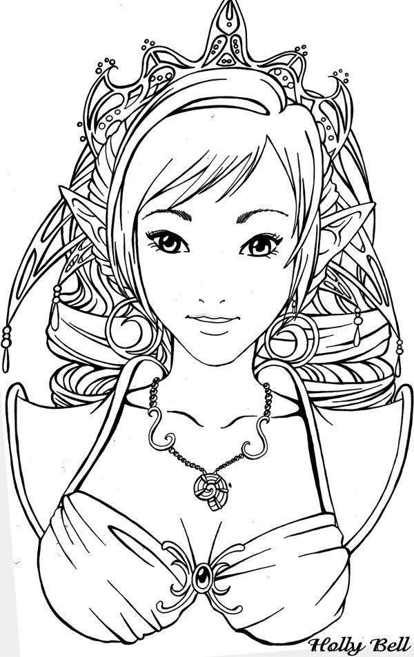 Les 107 meilleures images du tableau coloriage elfe sur pinterest elfes coloriage adulte et - Manga coloriage elfe ...