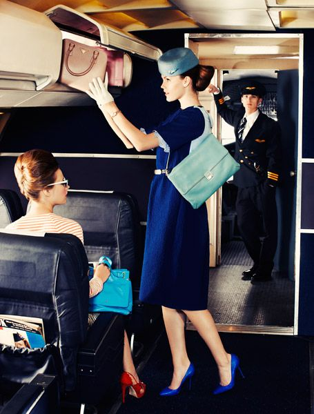 The Terrier and Lobster: Stewardesses by Chris Craymer for Glamour UK