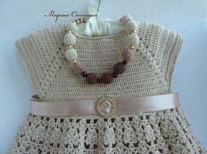 Maravilloso Vestido de Ganchillo para Bebé