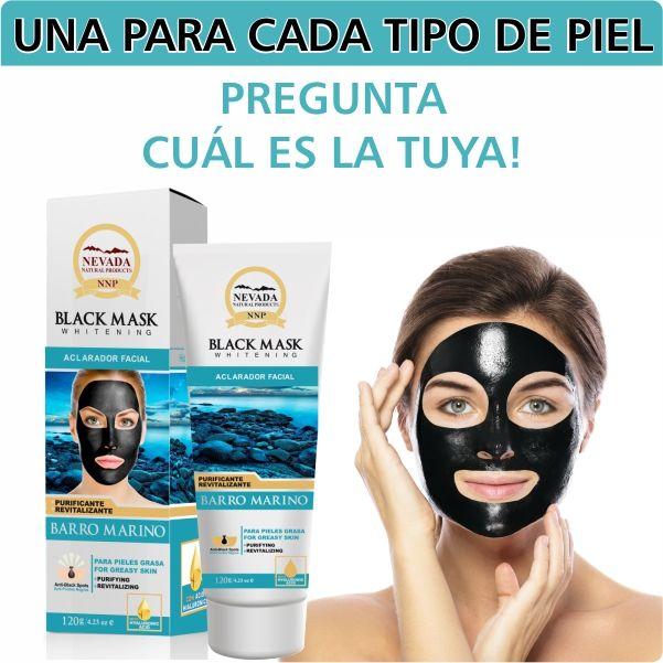 Mascarilla hidroplastica para puntos negros. Aloe Vera para piel sensible, Pepino para piel seca y Barro Marino para piel grasa.