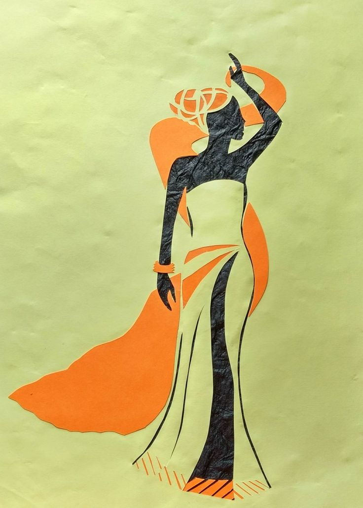 Paper cutting. Lady