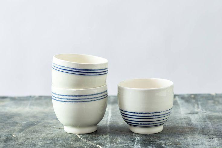 New on my #etsy shop: Matcha Tea Bowls Set, Chawan Tea Bowl, Matcha Mug, Modern Pottery Urban Mug, Sake Cups Set, Modern Blue & White Bowl, http://etsy.me/2AQckxe #housewares #blue #wedding #christmas #white #ceramic #teaglasses #blueandwhiteset #weddinggift
