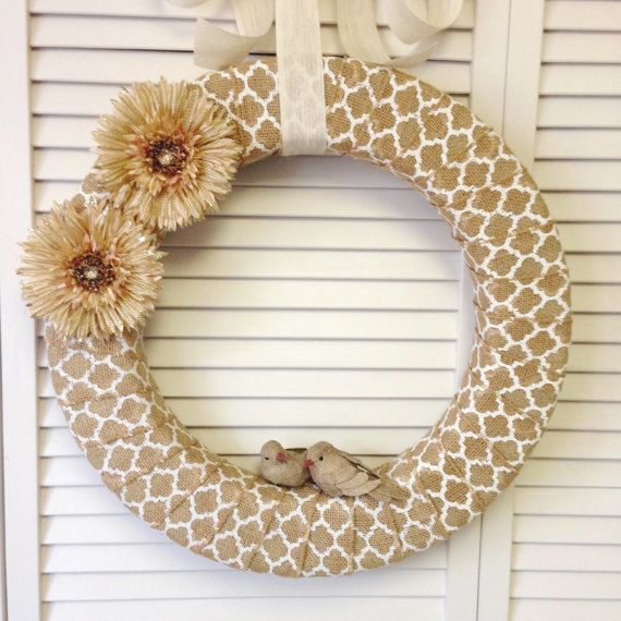 18 Modern Burlap Wreath This Burlap Wreath Is Made From A