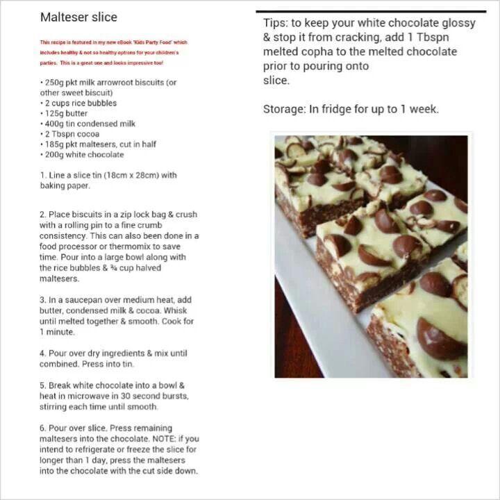 Malteser Slice
