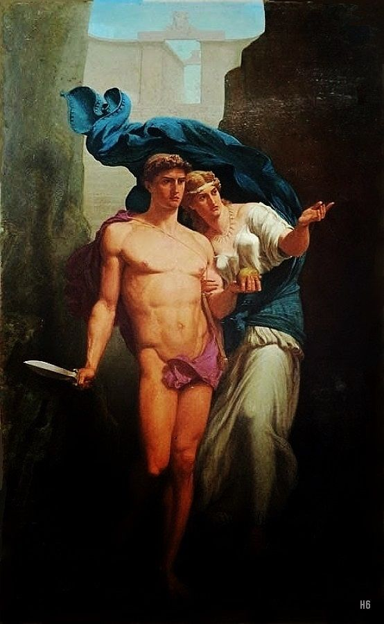 Theseus and Ariadne. 19th.century. Charles de La Fosse. French 1829-1910. oil/canvas. http://hadrian6.tumblr.com: