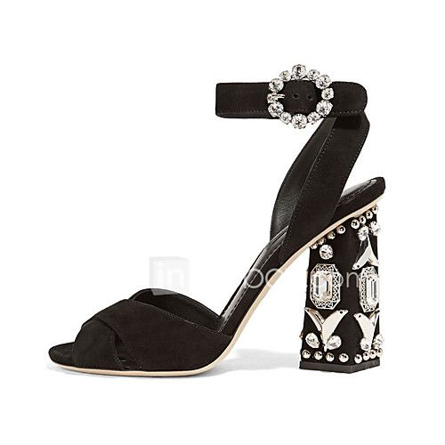 Women's Sandals Spring Summer Club Shoes Fleece Party & Evening Dress Casual Chunky Heel Rhinestone Black - AUD $88.29 ! HOT Product! A hot product at an incredible low price is now on sale! Come check it out along with other items like this. Get great discounts, earn Rewards and much more each time you shop with us!