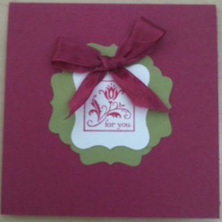 Quick thank you card using Cute by the Inch Stampin' Up! Hostess set