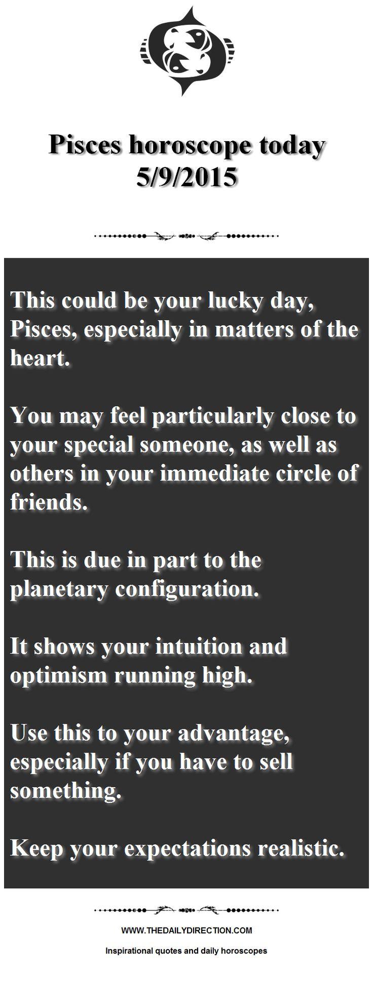 Please share 5 9 2015 horoscope for pisces