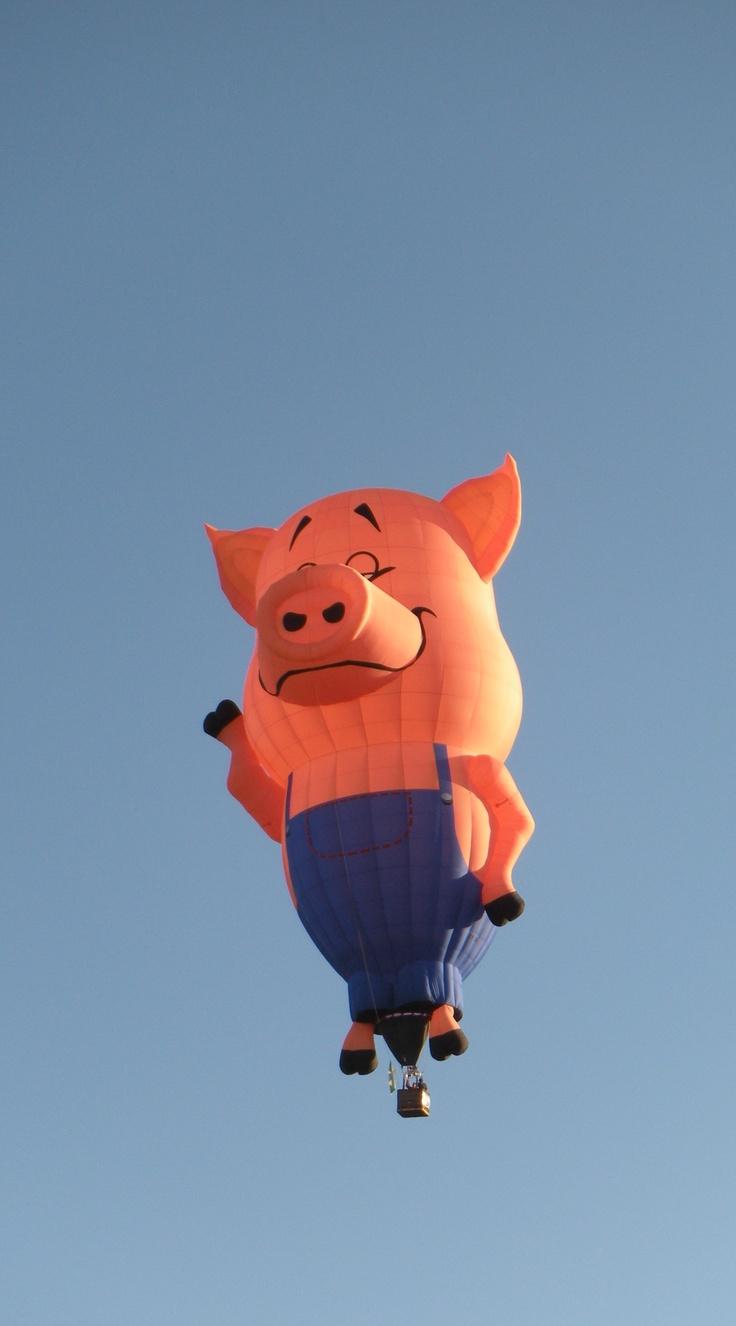 Farmer Pig Albuquerque Int L Balloon Fiesta 2010 Air Balloon Hot Air Balloon Rides Hot Air Balloon