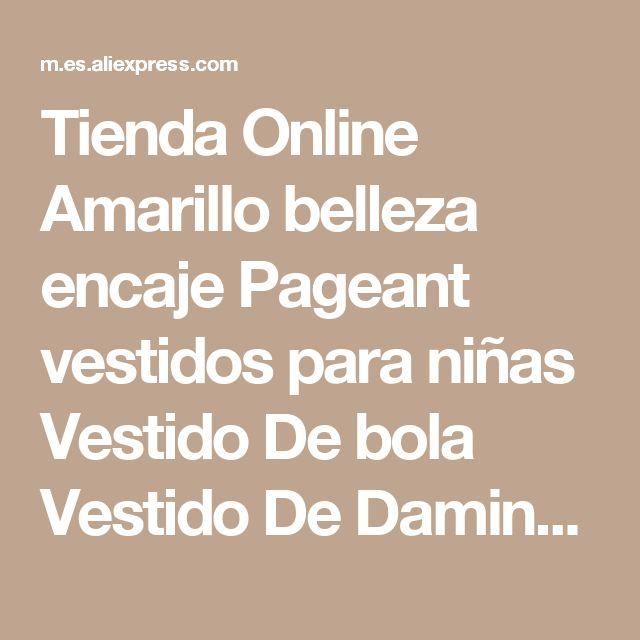 Tienda Online Amarillo belleza encaje Pageant vestidos para niñas Vestido De bola Vestido De Daminha Flower Girl Dress niños Vestido De fiesta 2016 | Aliexpress móvil