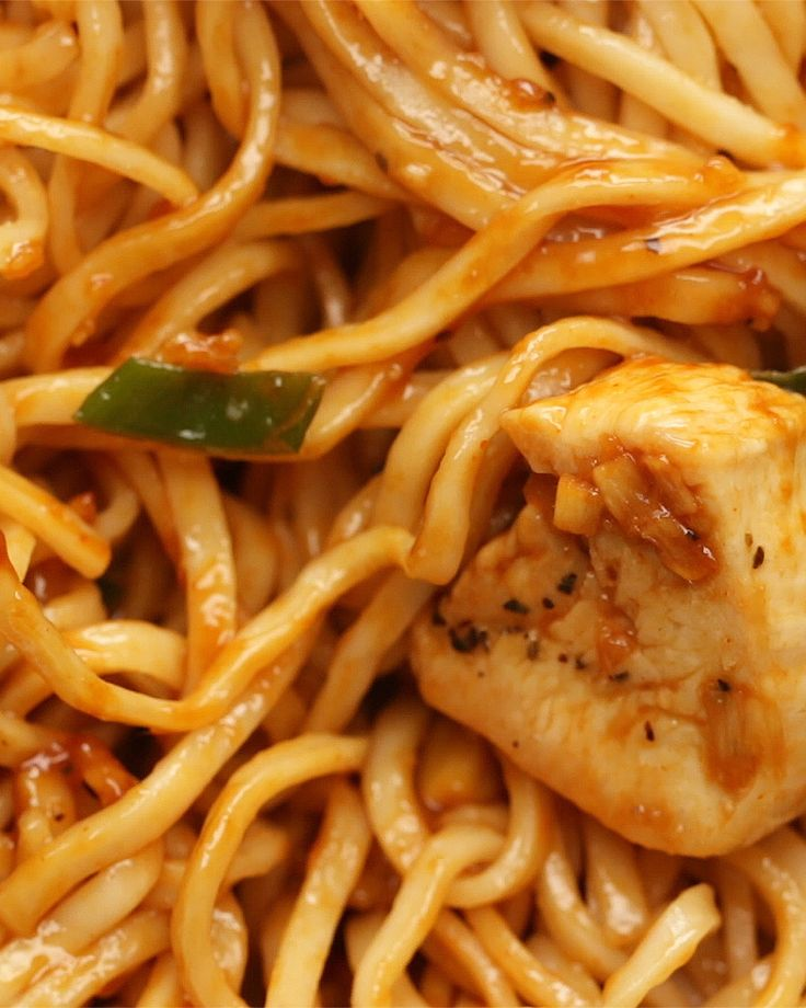 Easy Teriyaki Chicken Noodles