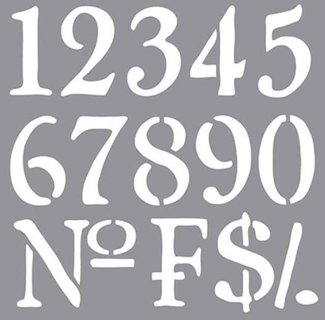 Olde World Numbers sjabloon staat voor een sjabloon met oude nummers. Het nostalgische sjabloon geeft een echte oude brocante uitstraling. Je kan dit sjabloon als geheel gebruiken, maar natuurlijk ook gewoon als letter sjabloon. Dit sjabloon zie je vaak op oude meubels of als decoratie op oude kisten of meubels die men een brocante look wil geven.