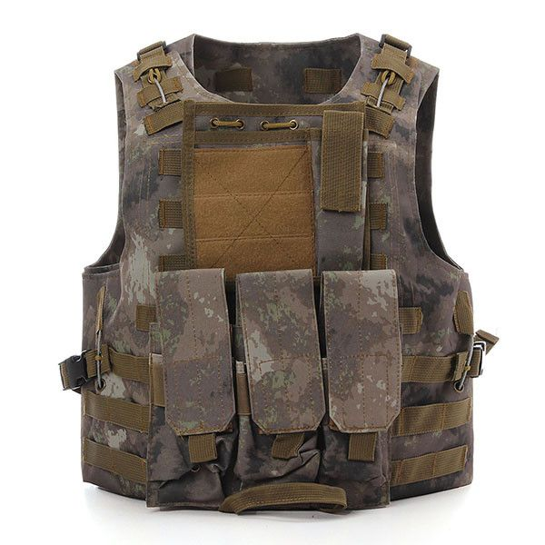 Camo SWAT Police Tactical Military Combat Vest Heavy Duty