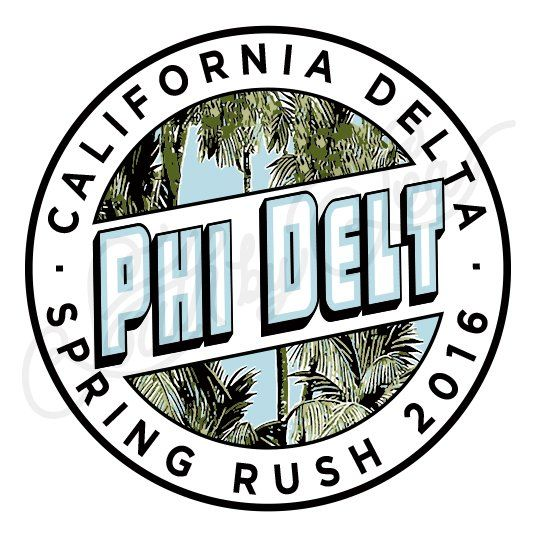 Fraternity Recruitment Phi Delta Theta Palm Tree Postcard South By Sea