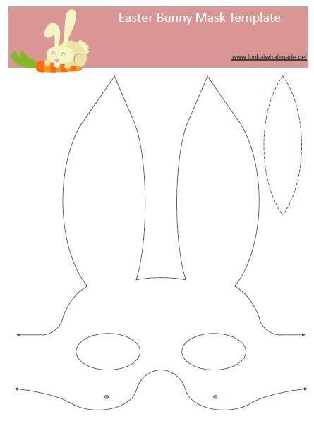 Easter Bunny Mask Template Easter Bunny Mask... Or splicer mask?!