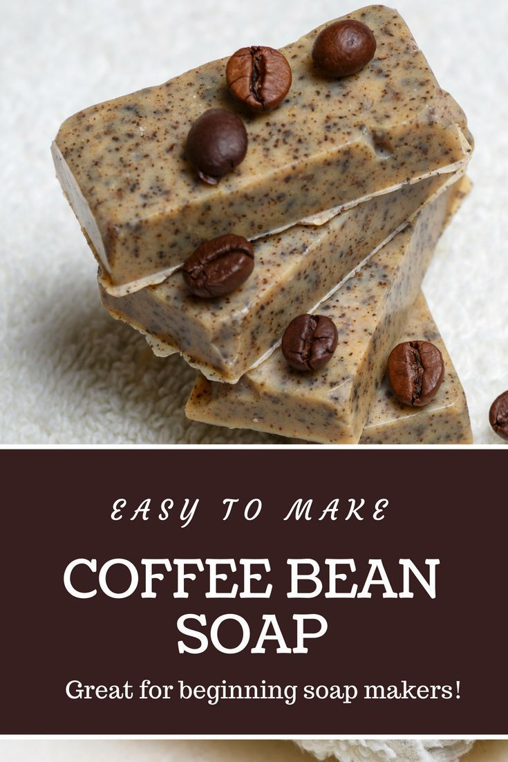 Easy to melt and pour coffee soap for coffee lovers   – Handmade soap