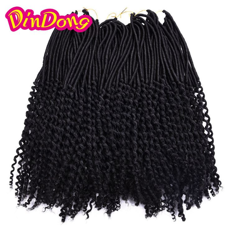 24 Roots Crochet Braids Faux Locs Curly Ends 20 Inch Goddess faux locks crochet braiding hair Extension wavy Ends Soft locs hair http://jadeshair.com/24-roots-crochet-braids-faux-locs-curly-ends-20-inch-goddess-faux-locks-crochet-braiding-hair-extension-wavy-ends-soft-locs-hair/ #HairExtension