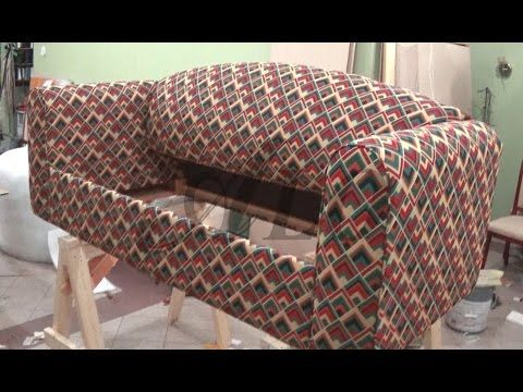 DIY HOW TO REUPHOLSTER A SOFA BED