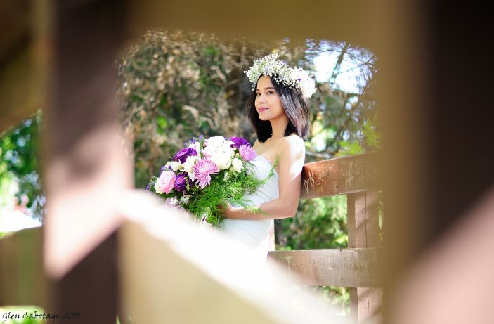 Beautiful shot by photographer Glen Cabotage during our styled shoot featuring shade of purple. violets, lavander colors
