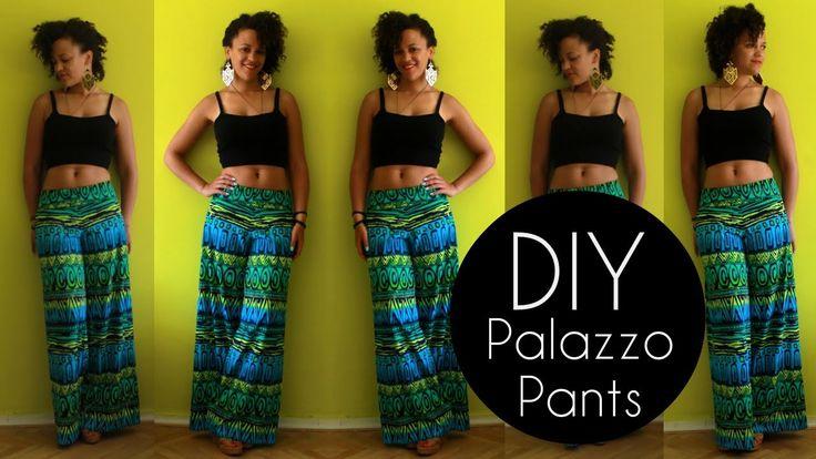 Como hacer un pants Palazzo  DIY Summer Clothes | DIY Palazzo Pants | Sewing For Beginners