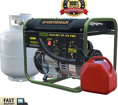 Sportsman Dual Fuel Generator 2000 Watt Portable Start Propane Gasoline Camping
