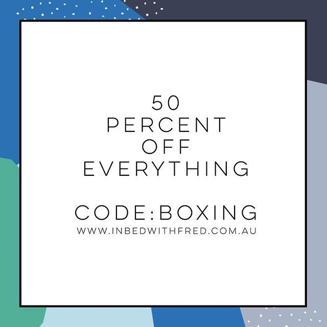 Almost sale time! Starts 7am today. Code: BOXING x
