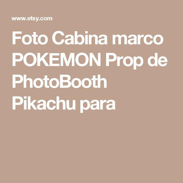 Foto Cabina marco POKEMON Prop de PhotoBooth Pikachu para