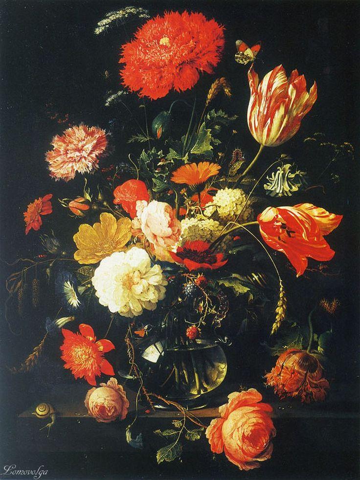 Абрахам Миньон Графин с цветами  и ежевикой The Ashmolean Museum, Oxford