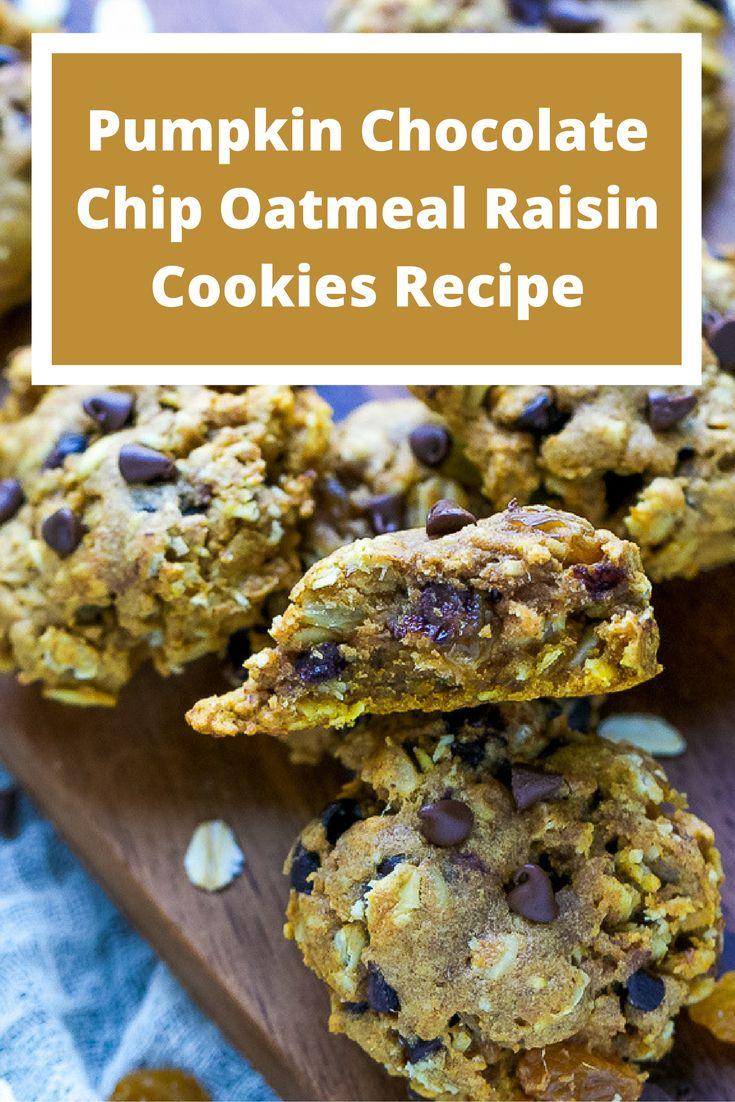Pumpkin Chocolate Chip Oatmeal Raisin Cookies Recipe
