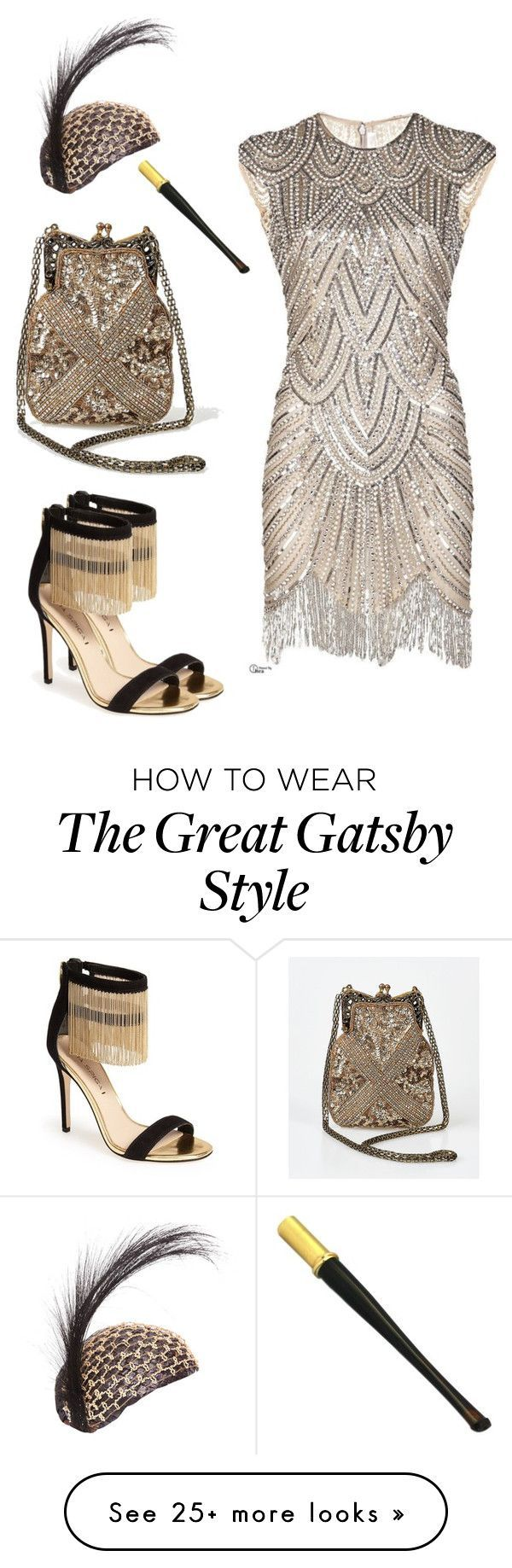 """""""Great Gatsby"""" style  foto-io on Polyvore featuring Iconic by UV, Via Spiga and Cartier"""