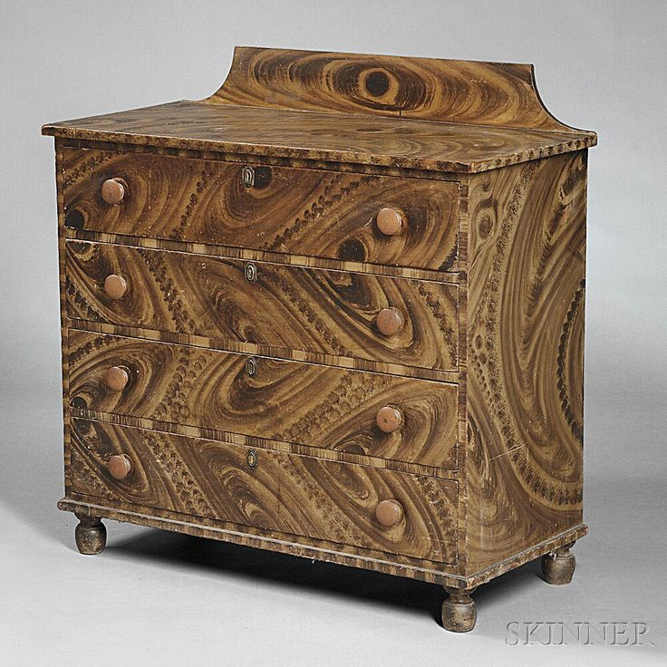 Paint-decorated Chest of Drawers | Sale Number 2757B, Lot Number 359 | Skinner Auctioneers