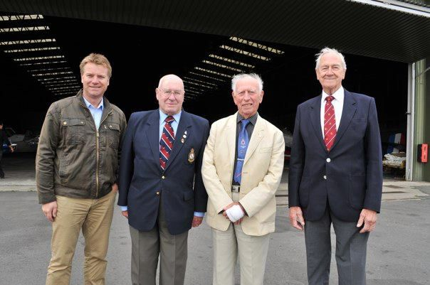 Colin McGregor with Bomber Command veterans.