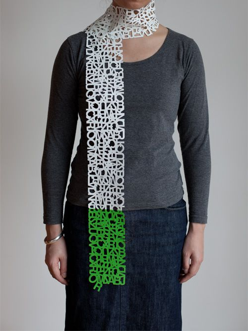 """helvetica winter"" scarf"