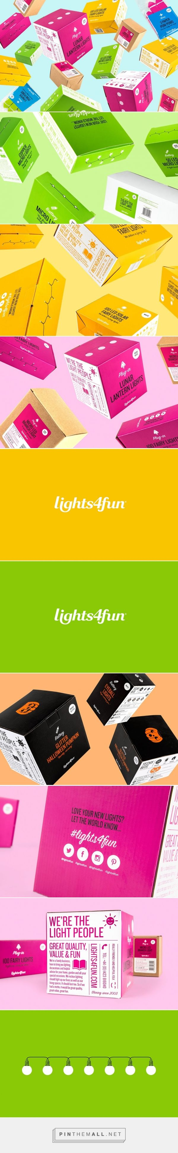 Lights4fun Lighting packaging design by Robot Food Design (UK) - http://www.packagingoftheworld.com/2016/04/lights4fun.html