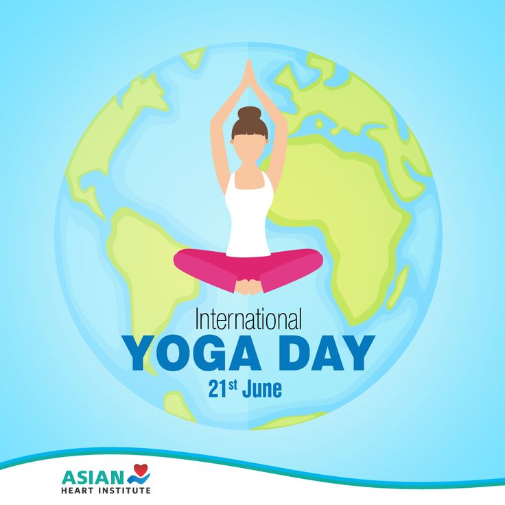 Feel happy, energetic and positive with #Yoga!  Wishing everyone good health on International Yoga Day :) #AsianHeartInstitute