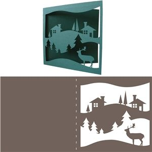 Silhouette Design Store - View Design #34555: christmas card