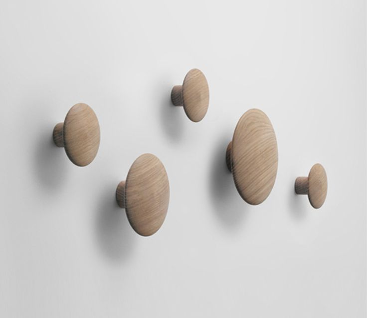 Muuto Dots Coat Hooks. If we don't do a wooden top in the bathroom i love these on the left hand wall. For warmth, fun (ok and towels!). They come in colours too.