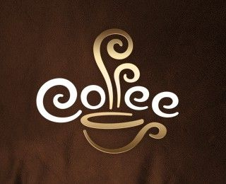Cute idea for coffee décor! This is a good logo for a coffee shop and is quite eye catching. Again its got a different cup design which can give me another idea. This logo is simple and is not too complicated.