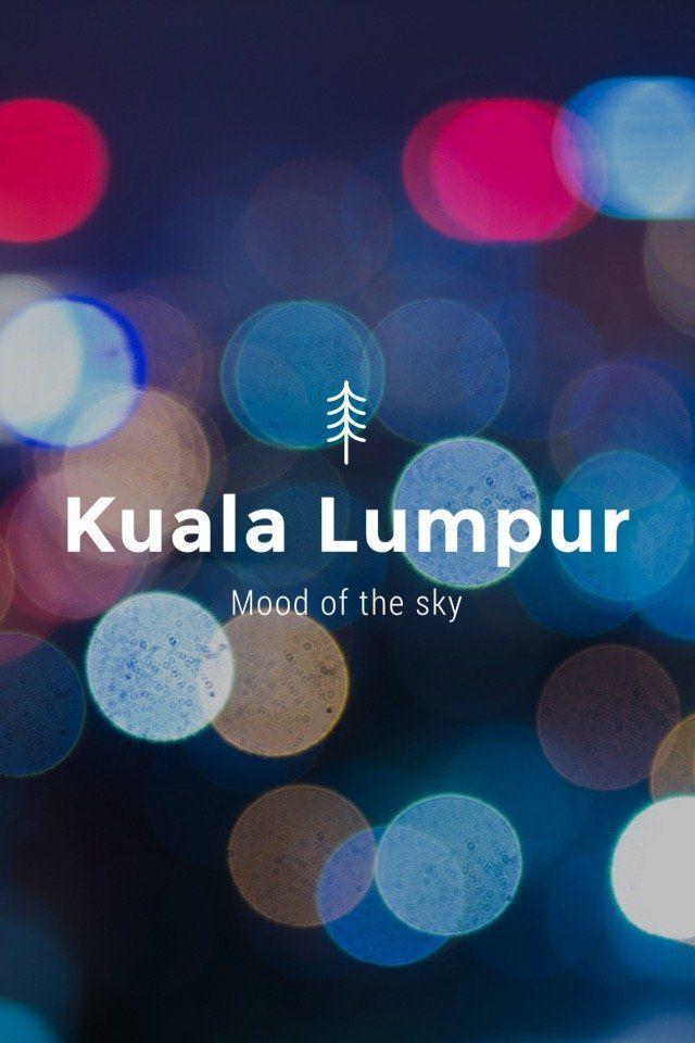 The sky of Kuala Lumpur