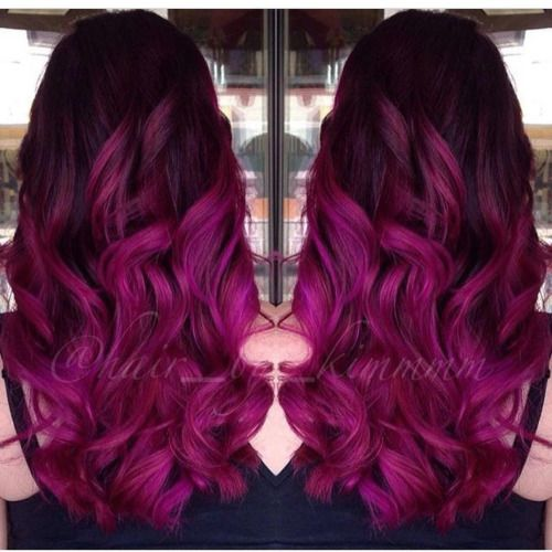 Magenta Madness  by @hair_by_kimmmm http://www.qunel.com/  fashion street style beauty makeup hair men style womenswear shoes jacket