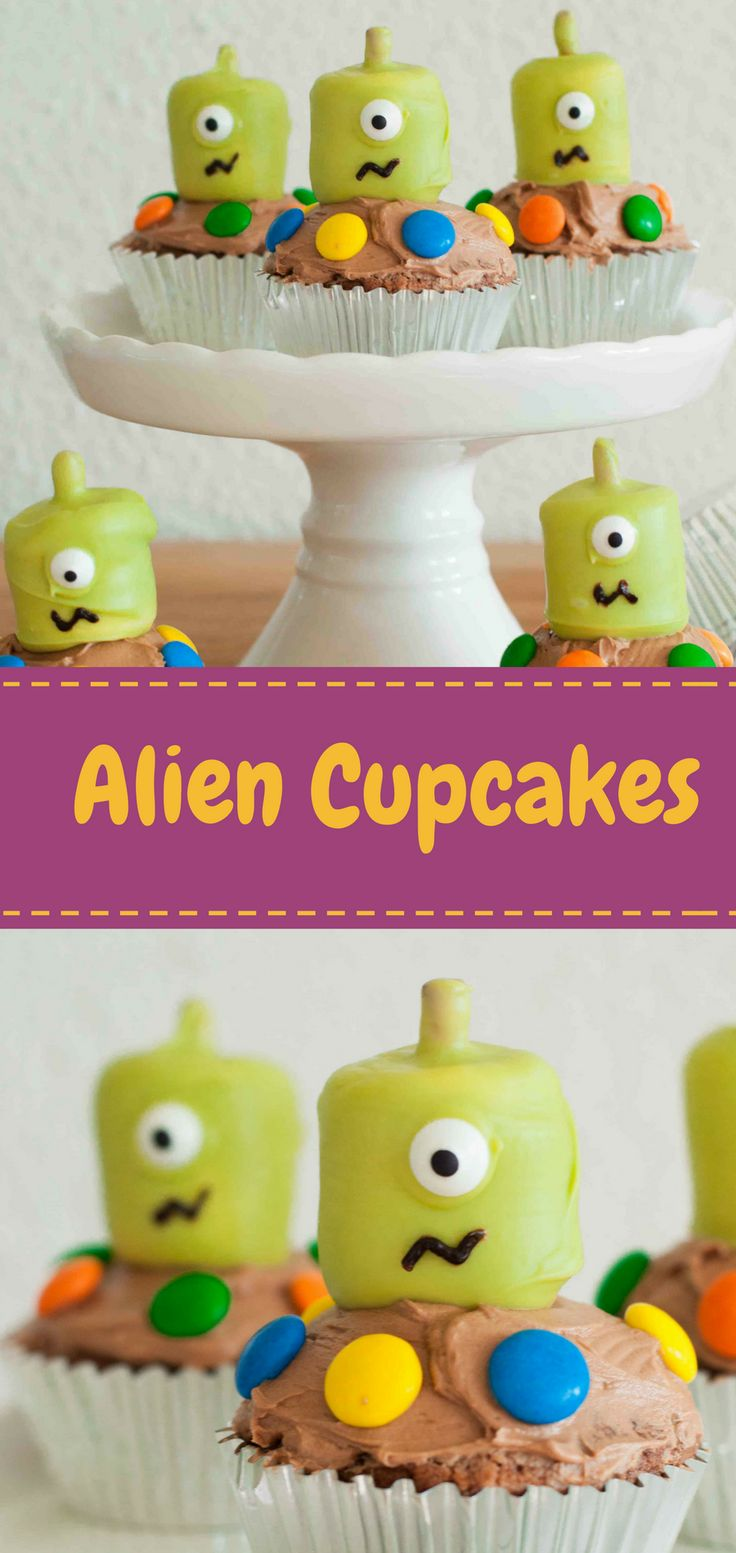 Diese schokoladigen Cupcakes kommen in Frieden und bringen Spaß für deinen Kindergeburtstag. #party #baking #cupcakes
