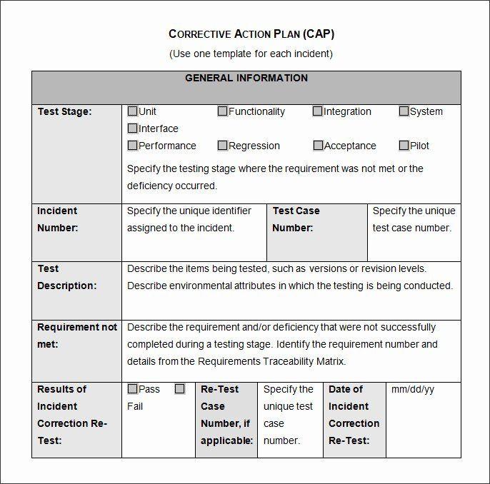 Employee Corrective Action Plan Template Beautiful Corrective Action Plan Template 25 Free Word Excel Pdf Action Plan Template How To Plan Action Plan