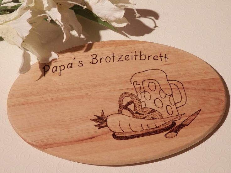 Brotzeitbrett für Papi zum Valentinstag, Vatertag von Imperiale Truppe spendet 10% des Erlöses den armen Kindern in Afrika auf DaWanda.com