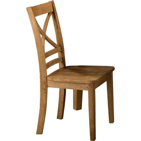 A Crossback Design And Neutral Toned Finish Give This Clean Lined Side  Chair A